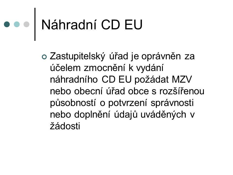 Náhradní CD EU