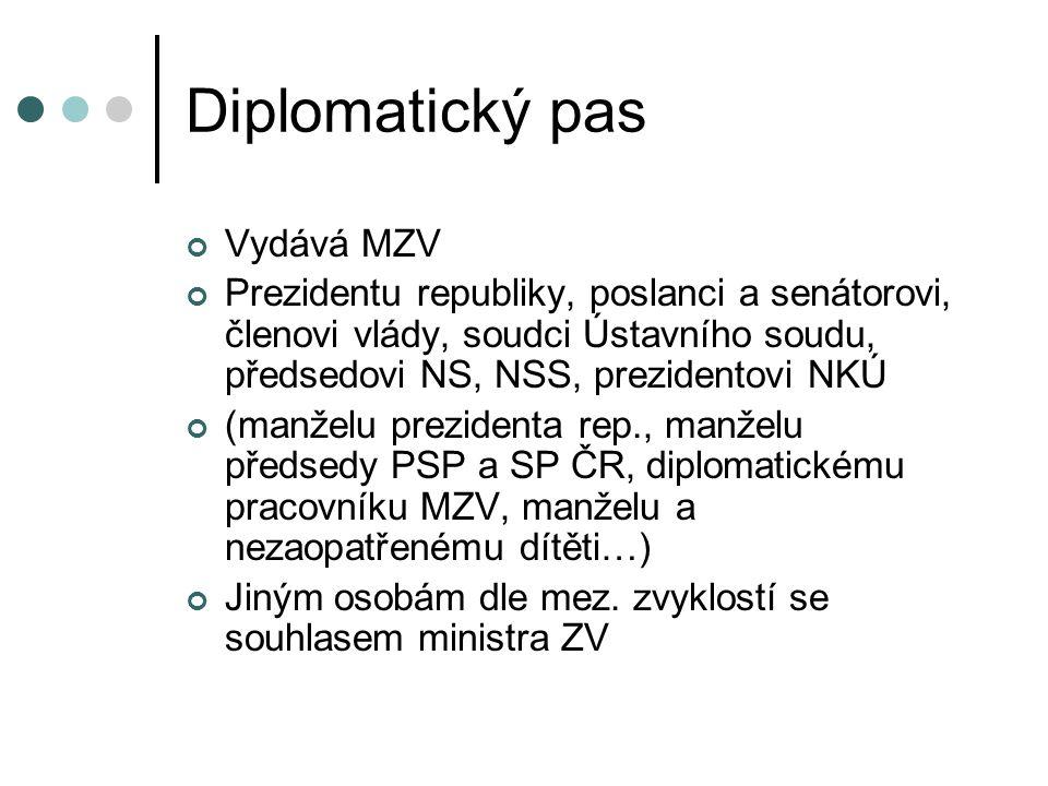 Diplomatický pas Vydává MZV