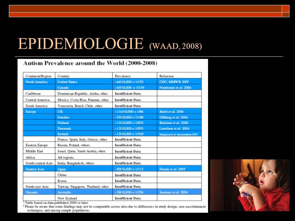 EPIDEMIOLOGIE (WAAD, 2008)