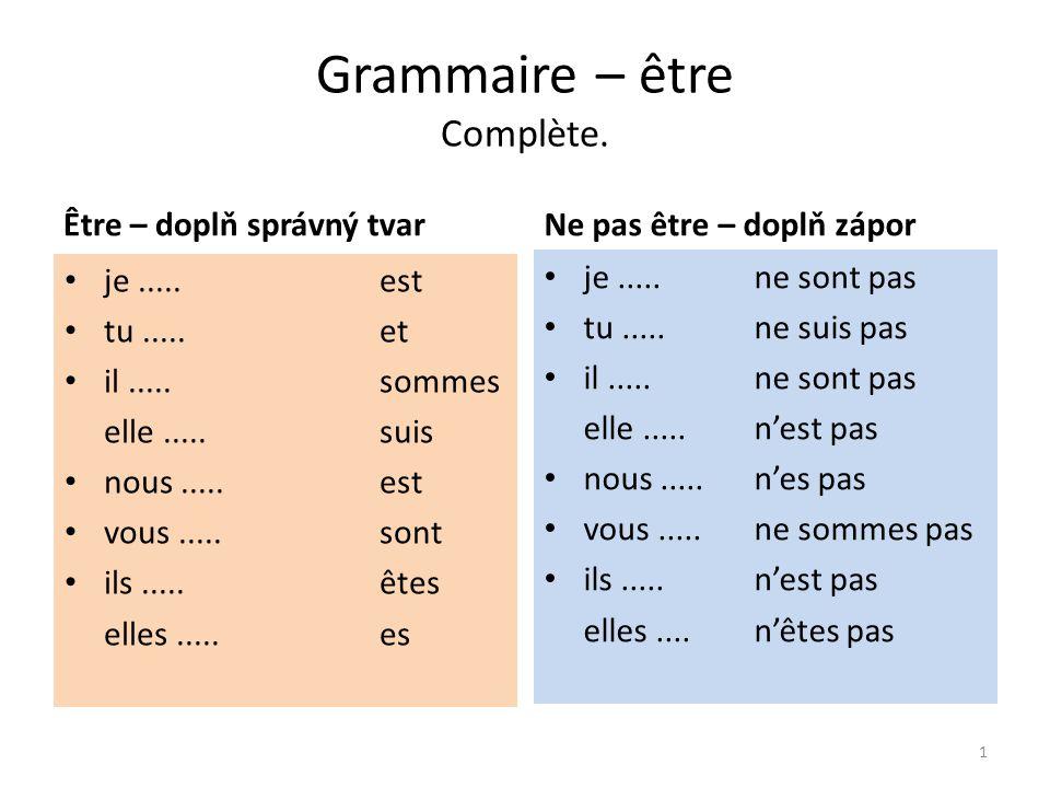 Grammaire – avoir Complète.