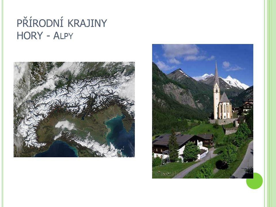 PŘÍRODNÍ KRAJINY HORY - Alpy