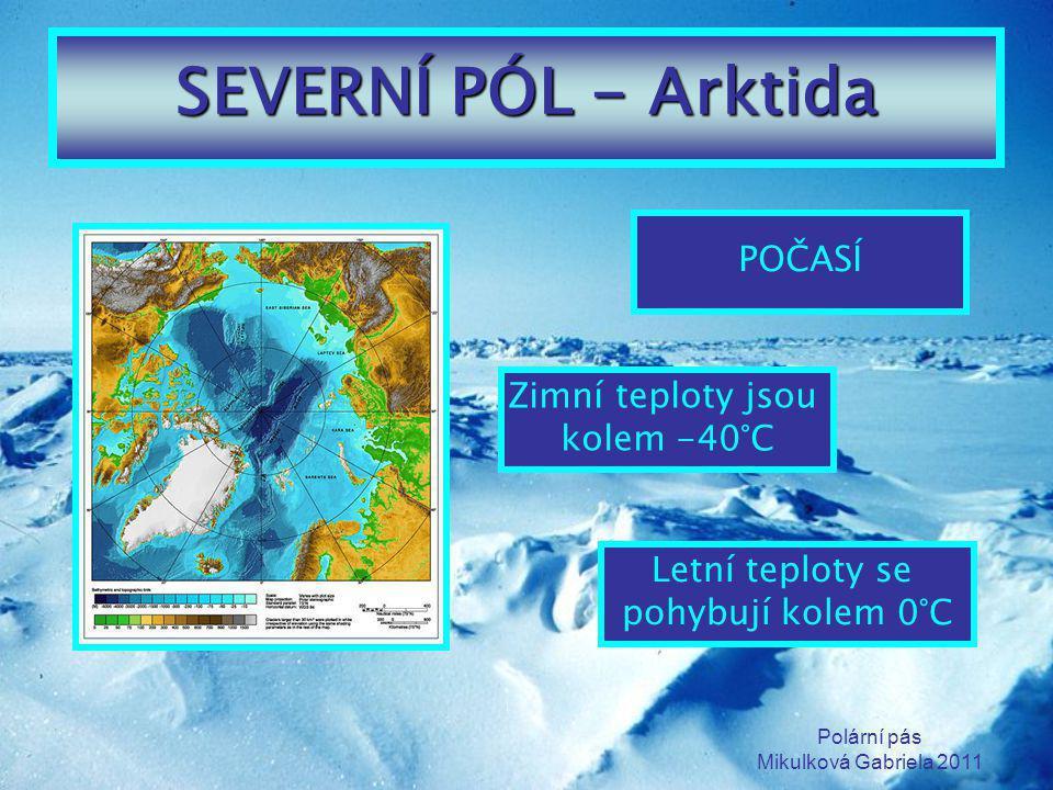 SEVERNÍ PÓL - Arktida POČASÍ Zimní teploty jsou kolem -40°C