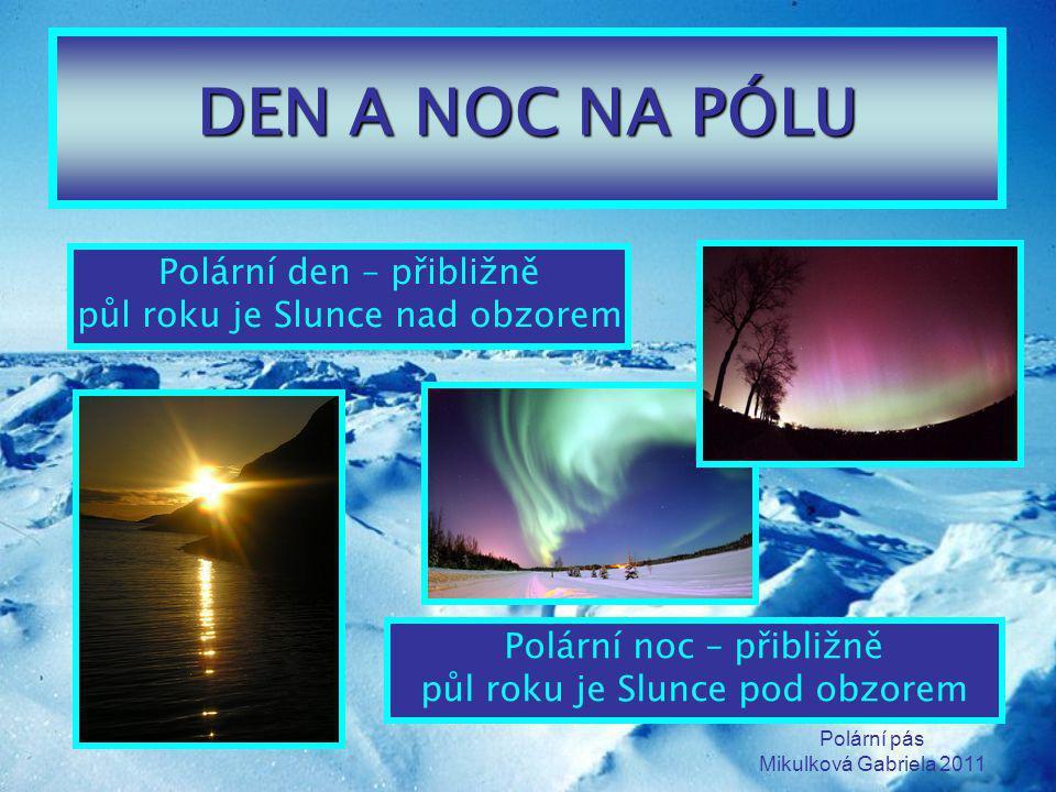 DEN A NOC NA PÓLU Polární den – přibližně