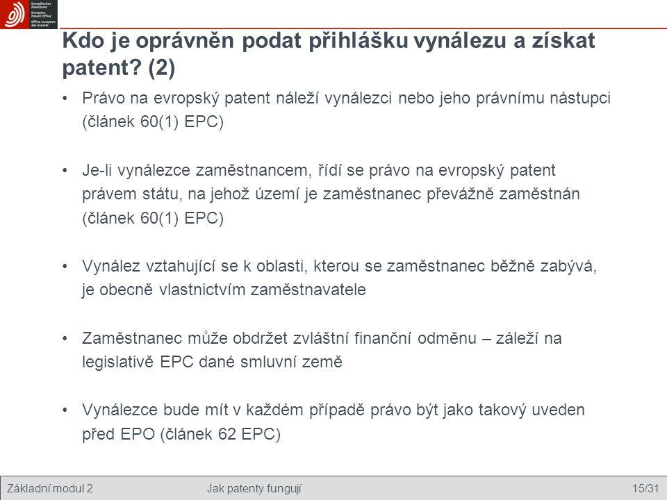 Kdo je oprávněn podat přihlášku vynálezu a získat patent (2)