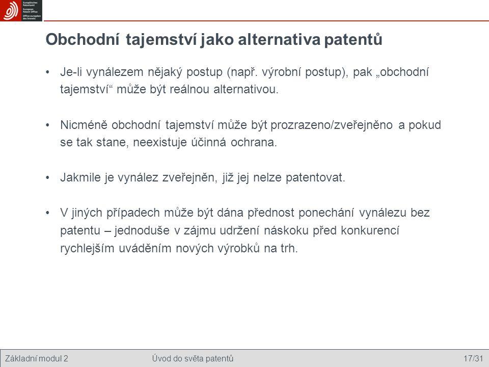 Obchodní tajemství jako alternativa patentů
