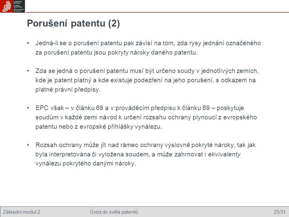 Porušení patentu (2)