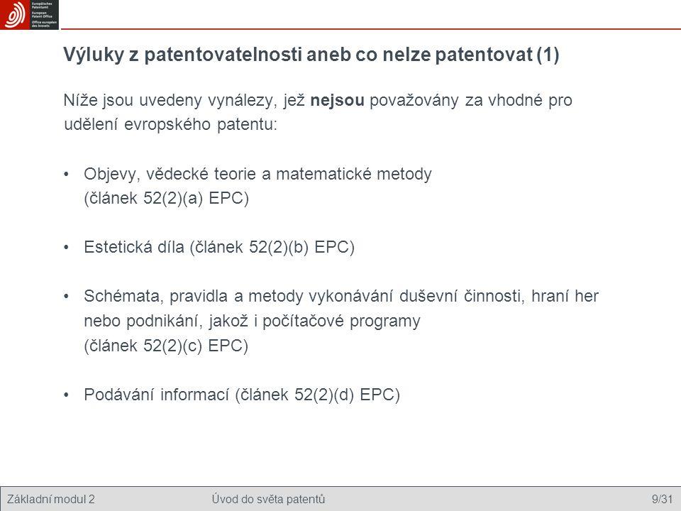 Výluky z patentovatelnosti aneb co nelze patentovat (1)