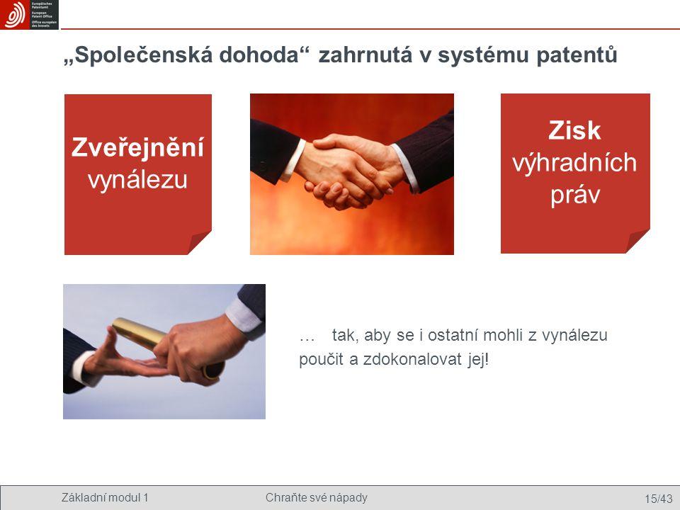 """""""Společenská dohoda zahrnutá v systému patentů"""
