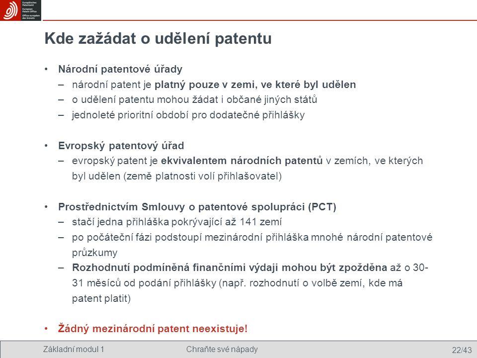Kde zažádat o udělení patentu