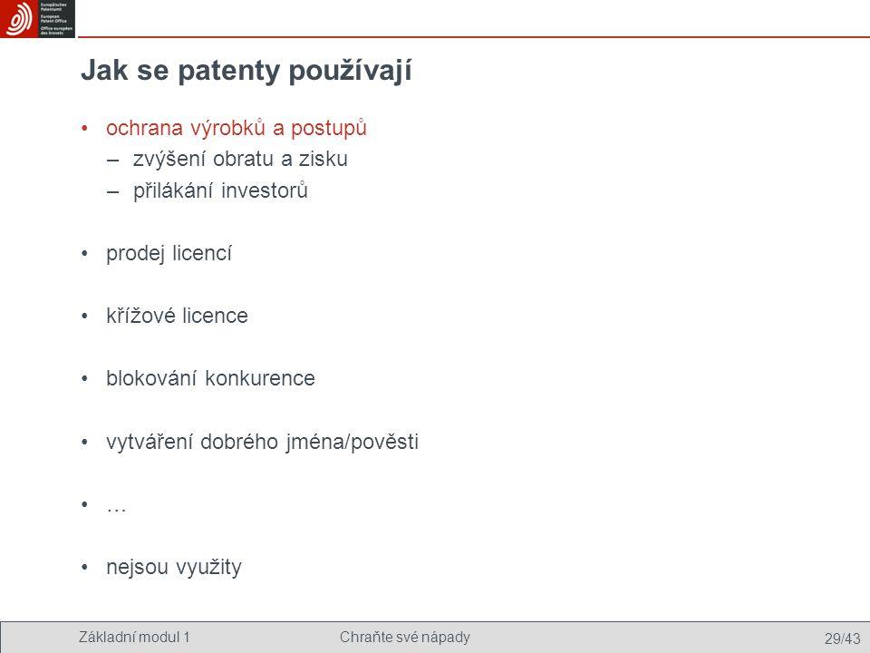 Jak se patenty používají