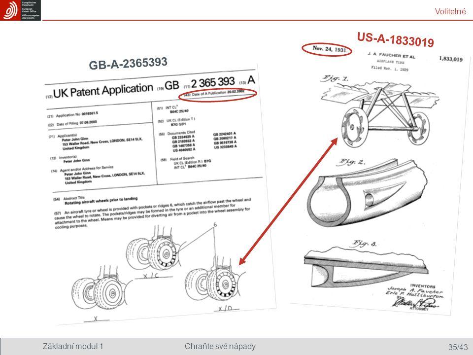 US-A-1833019 GB-A-2365393 Volitelné Znovuvynalezení kola - doslova