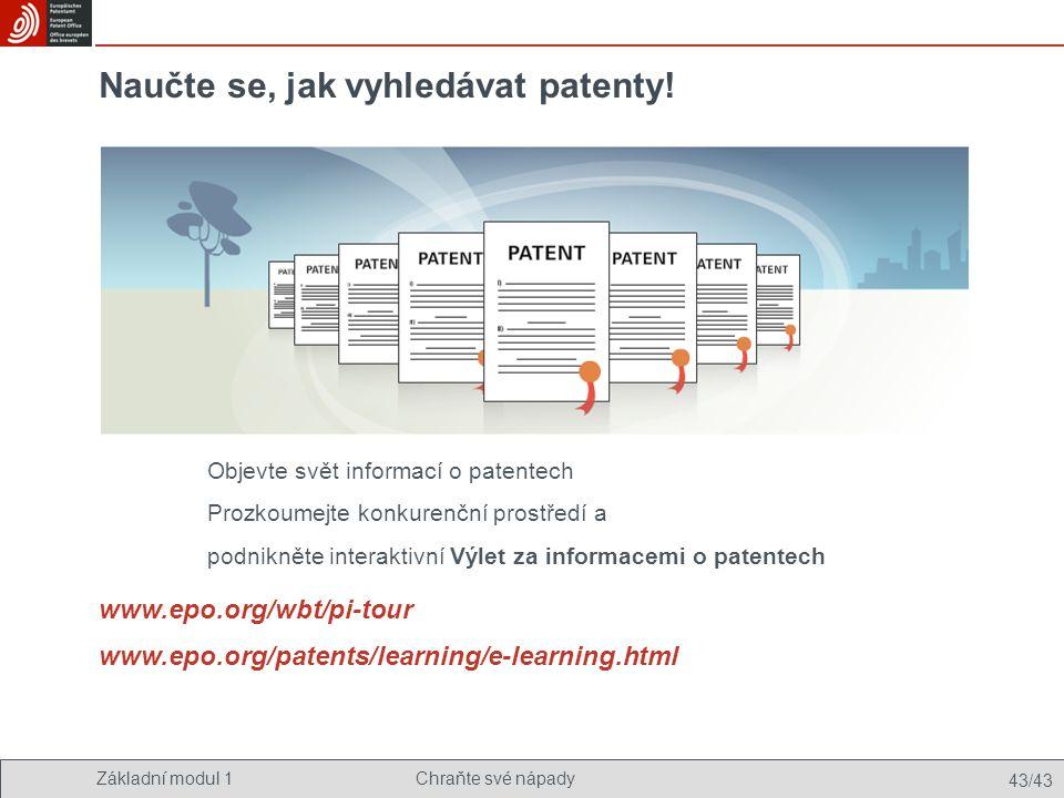Naučte se, jak vyhledávat patenty!