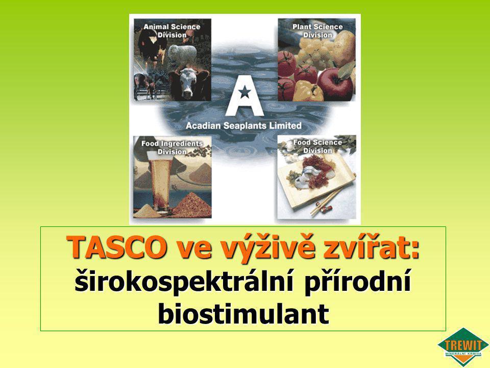 TASCO ve výživě zvířat: širokospektrální přírodní biostimulant