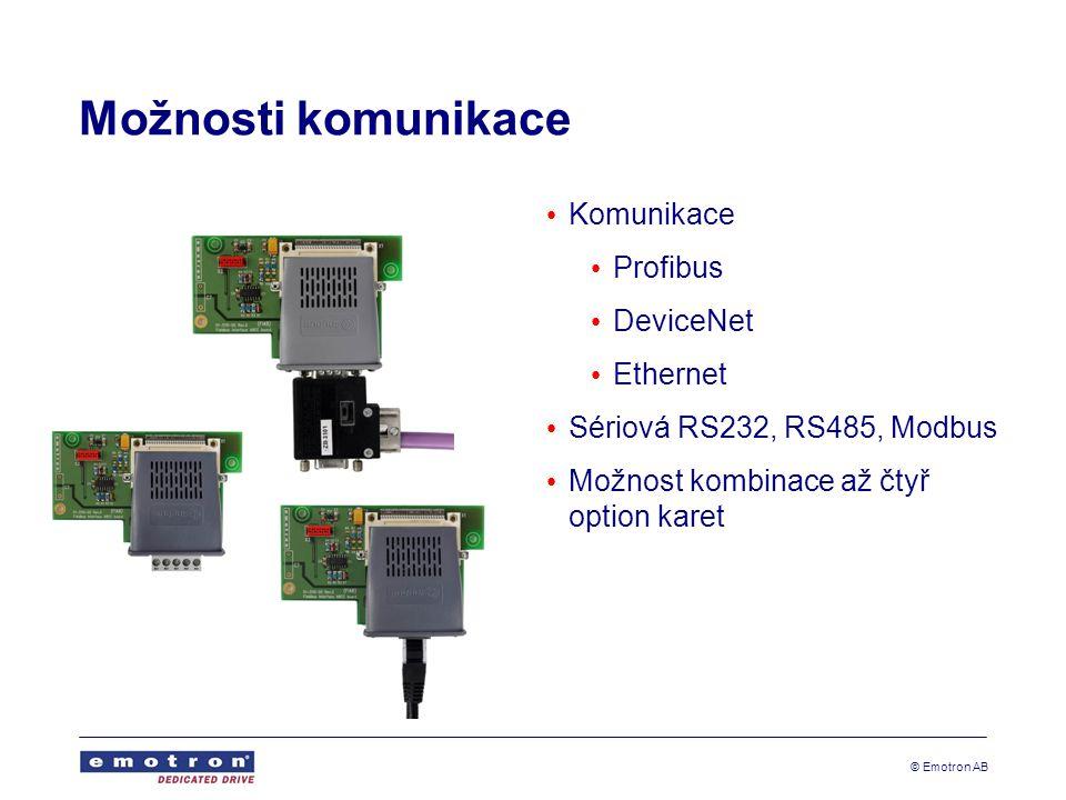 Možnosti komunikace Komunikace Profibus DeviceNet Ethernet