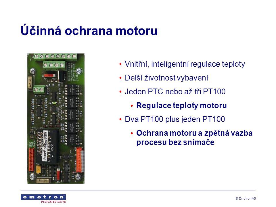 Účinná ochrana motoru Vnitřní, inteligentní regulace teploty