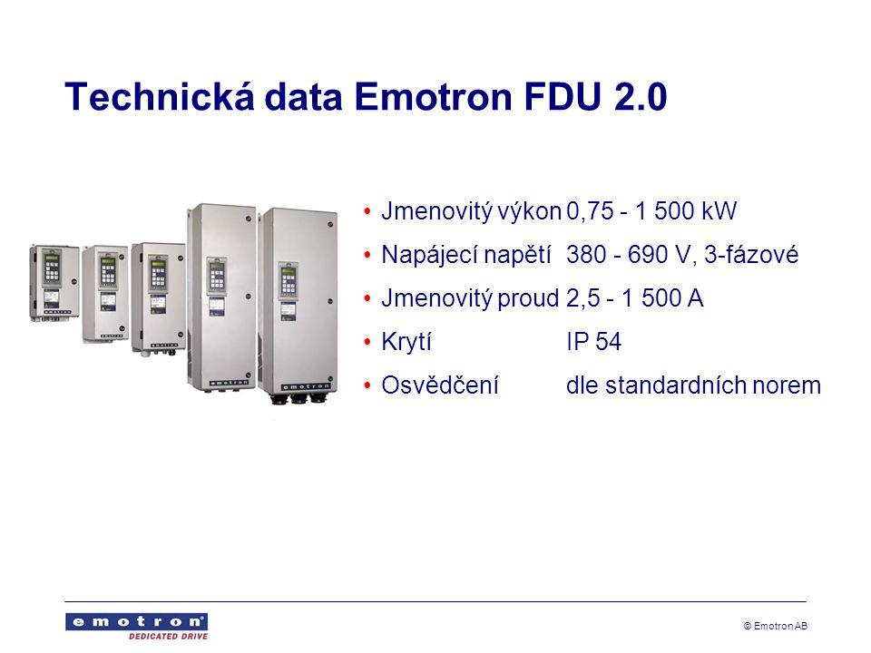 Technická data Emotron FDU 2.0
