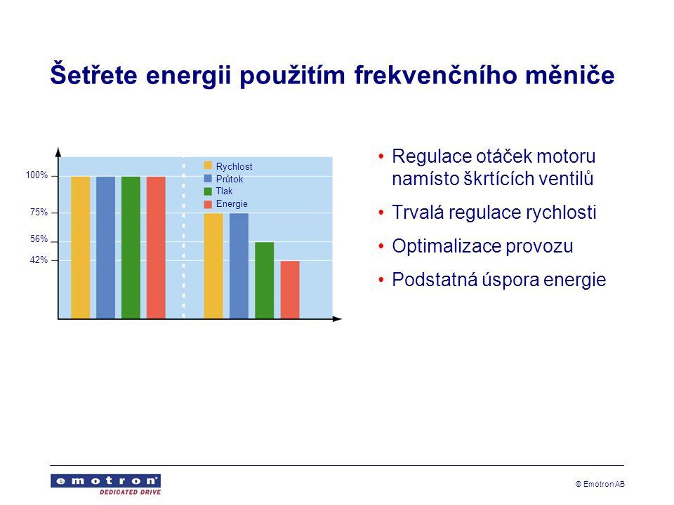 Šetřete energii použitím frekvenčního měniče