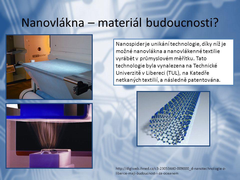 Nanovlákna – materiál budoucnosti