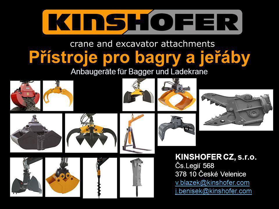 Přístroje pro bagry a jeřáby Anbaugeräte für Bagger und Ladekrane