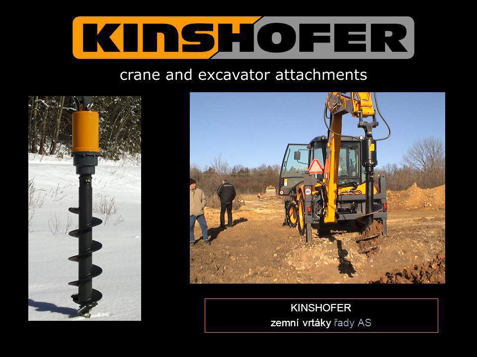 KINSHOFER zemní vrtáky řady AS