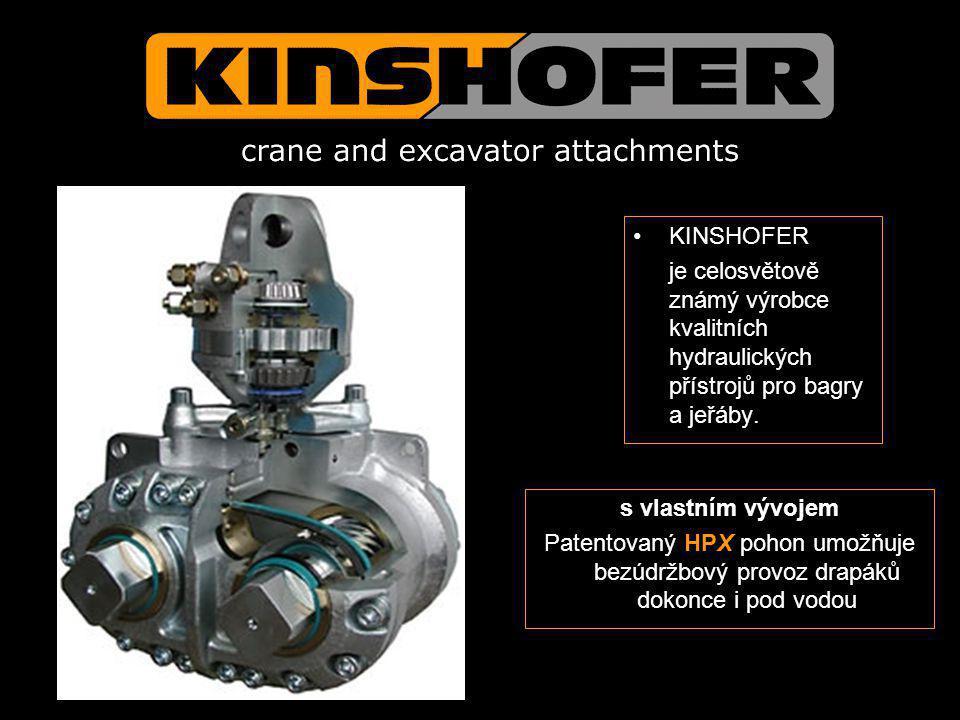 KINSHOFER je celosvětově známý výrobce kvalitních hydraulických přístrojů pro bagry a jeřáby. s vlastním vývojem.