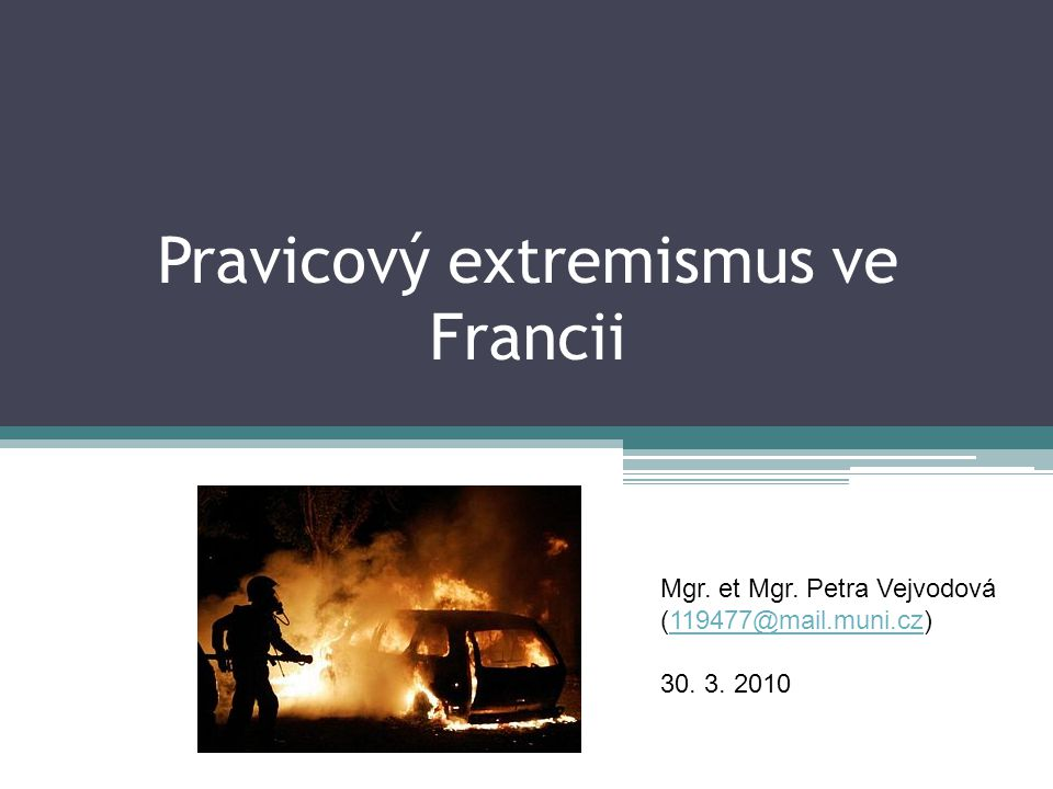 Pravicový extremismus ve Francii