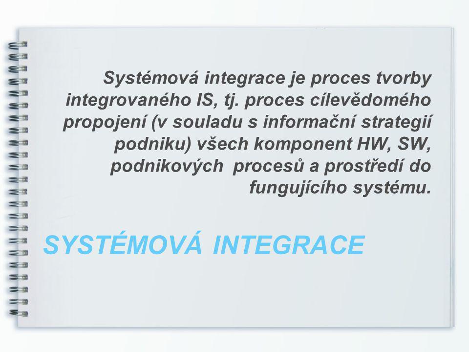 Systémová integrace je proces tvorby integrovaného IS, tj