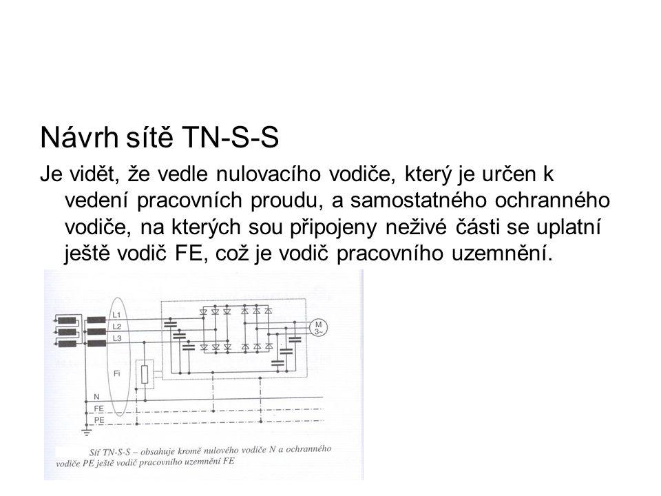 Návrh sítě TN-S-S