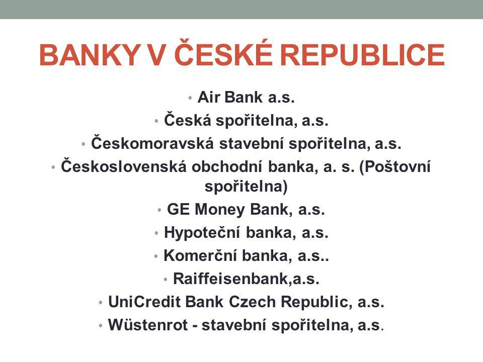 BANKY V ČESKÉ REPUBLICE