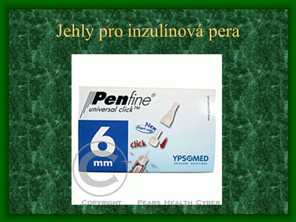 Jehly pro inzulínová pera