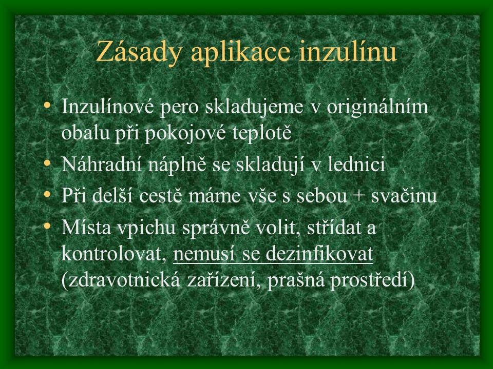Zásady aplikace inzulínu
