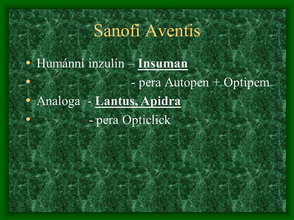 Sanofi Aventis Humánní inzulín – Insuman - pera Autopen + Optipem