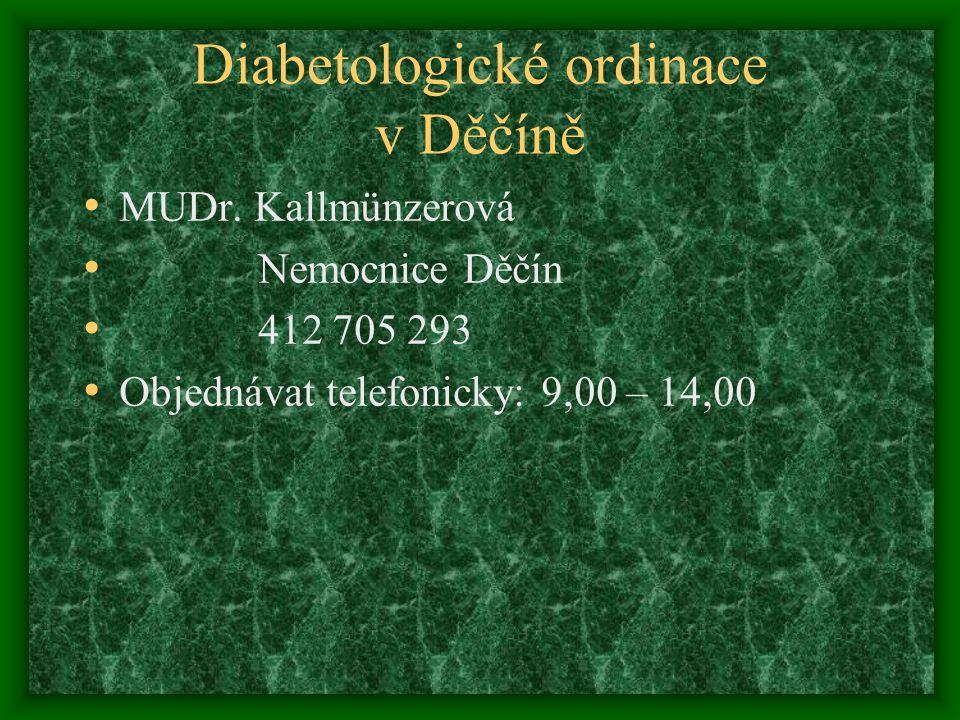 Diabetologické ordinace v Děčíně