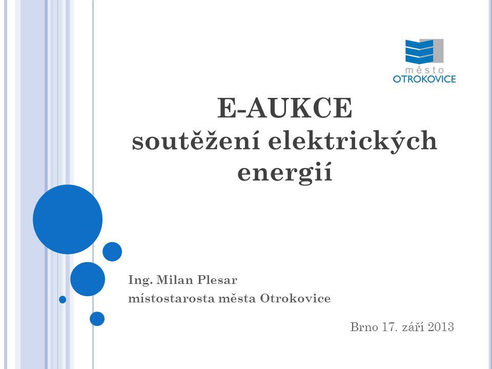 E-AUKCE soutěžení elektrických energií