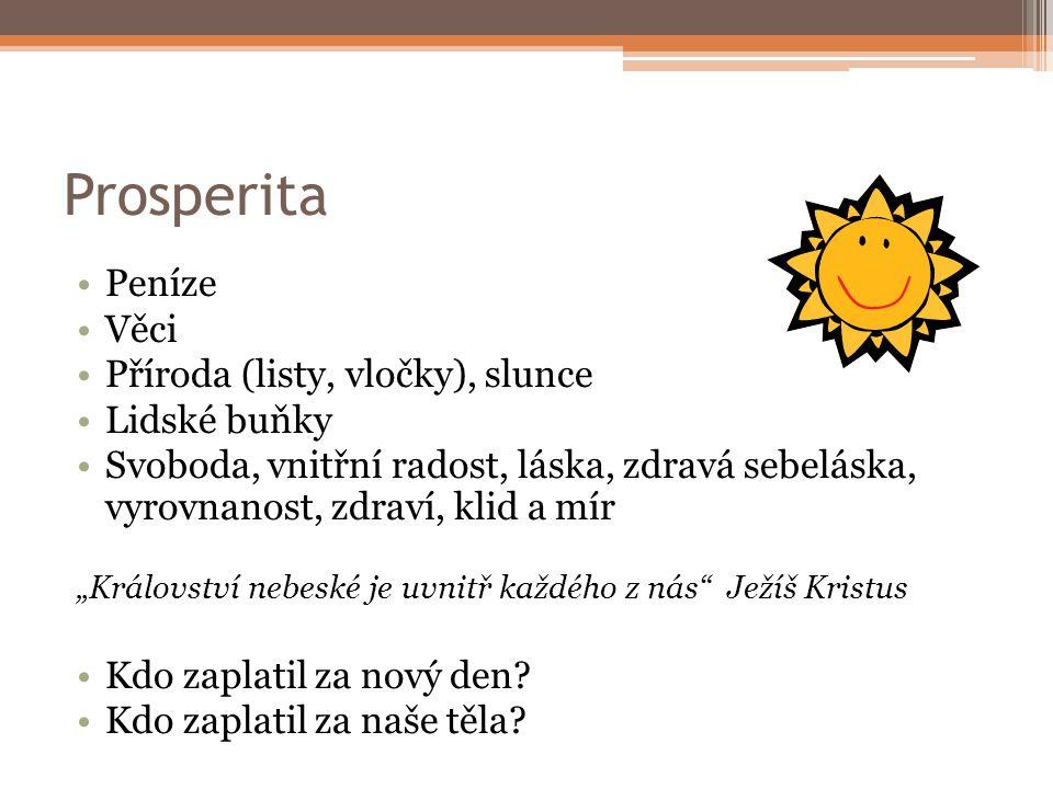 Prosperita Peníze Věci Příroda (listy, vločky), slunce Lidské buňky