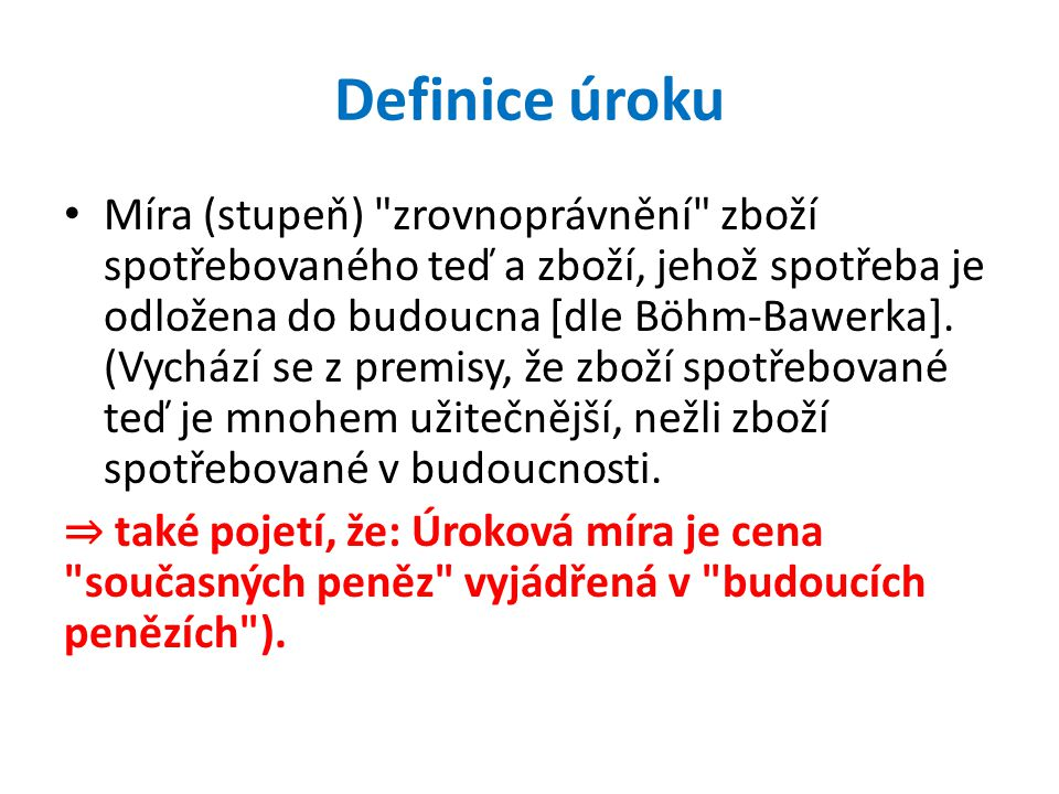 Definice úroku
