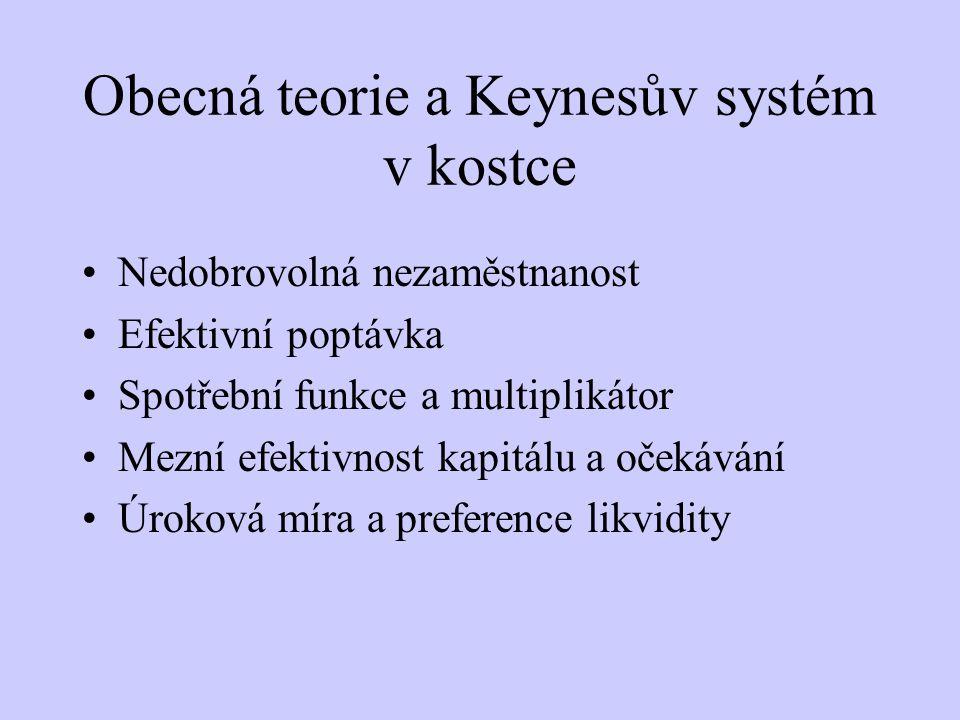 Obecná teorie a Keynesův systém v kostce