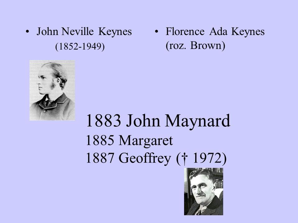 1883 John Maynard 1885 Margaret 1887 Geoffrey († 1972)