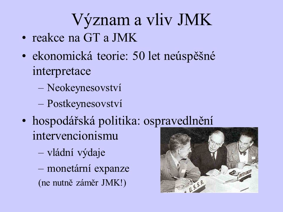 Význam a vliv JMK reakce na GT a JMK