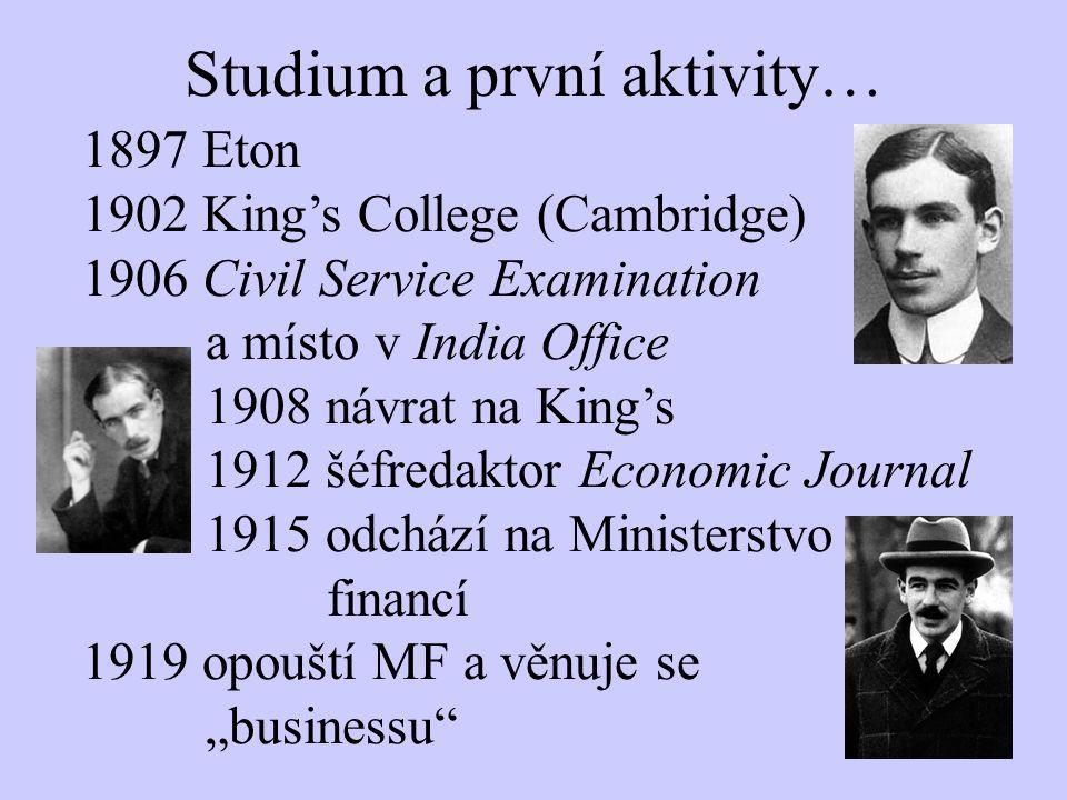 Studium a první aktivity…