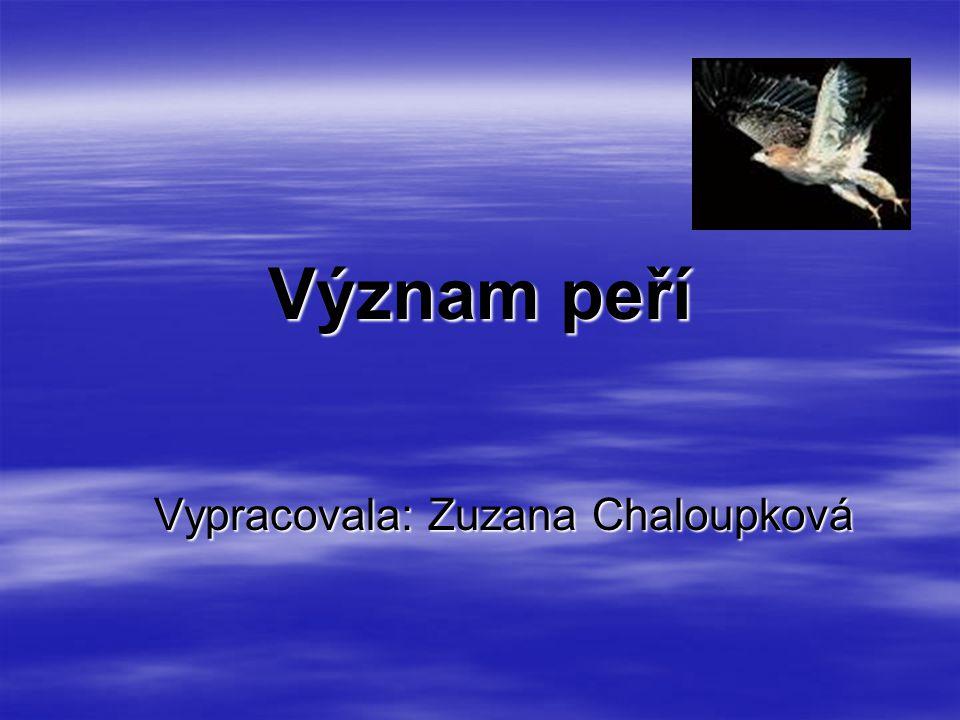 Vypracovala: Zuzana Chaloupková