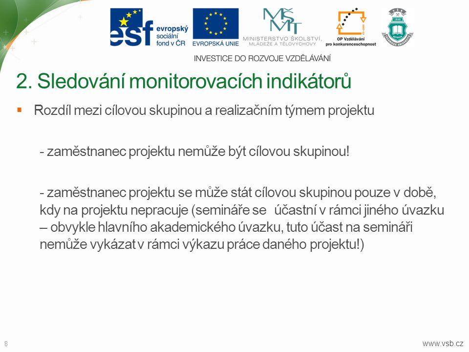 2. Sledování monitorovacích indikátorů