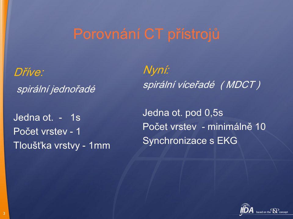 Porovnání CT přístrojů