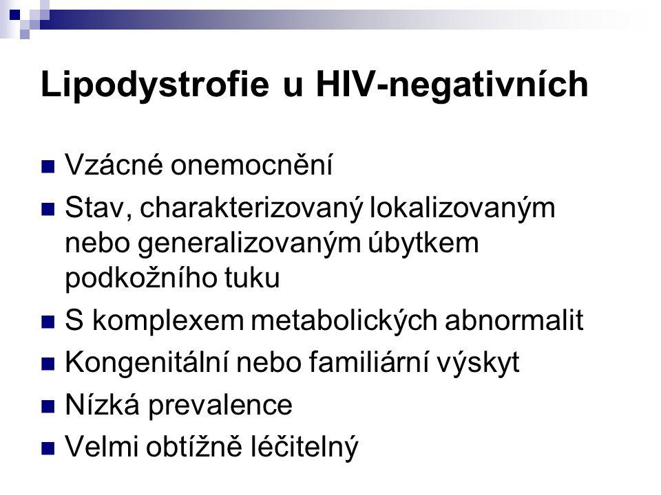 Lipodystrofie u HIV-negativních