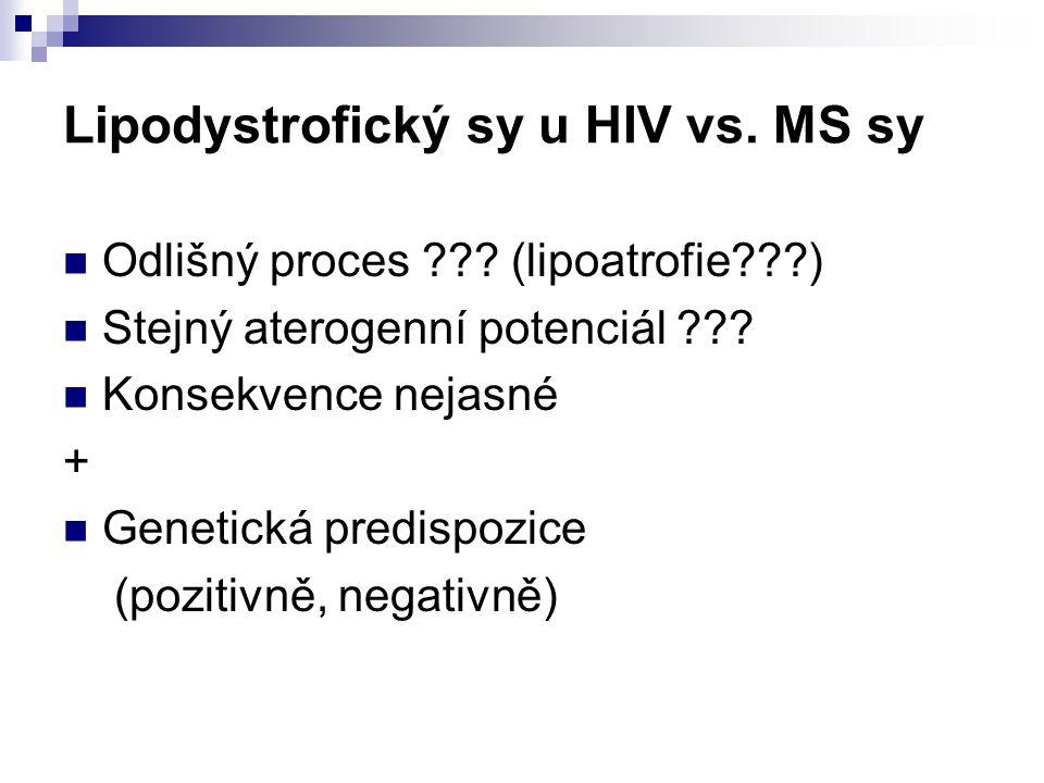 Lipodystrofický sy u HIV vs. MS sy