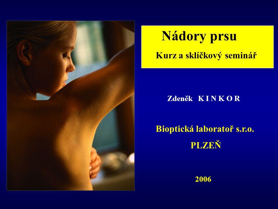 Nádory prsu Kurz a sklíčkový seminář Zdeněk K I N K O R