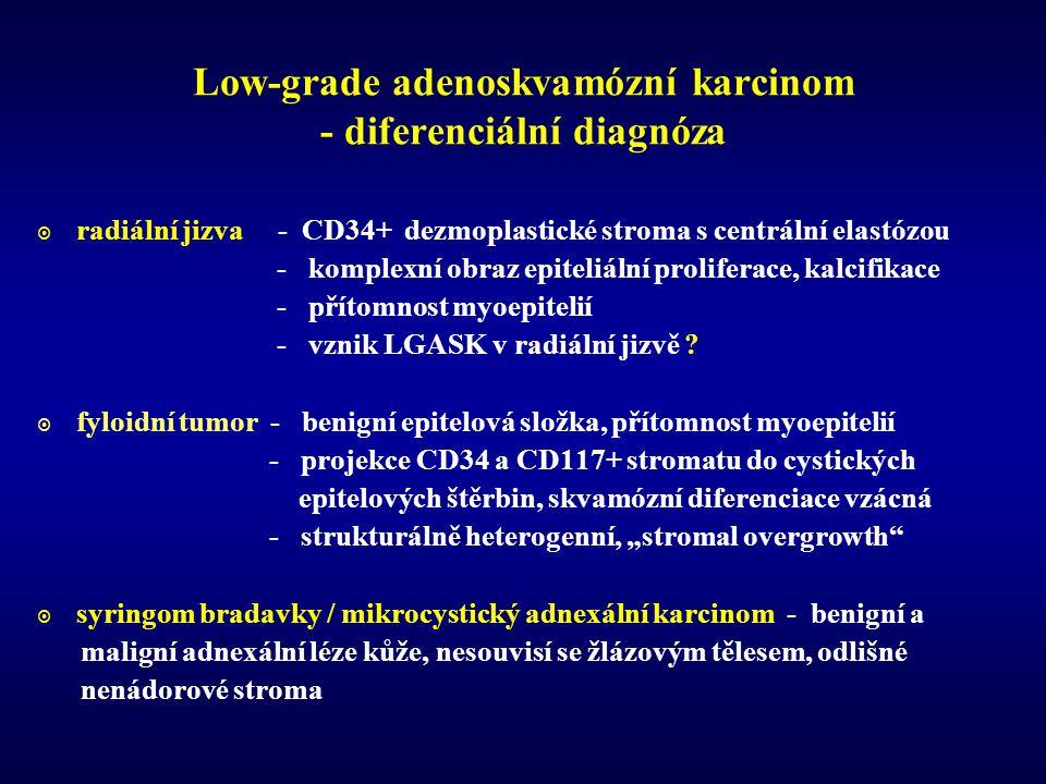 Low-grade adenoskvamózní karcinom - diferenciální diagnóza