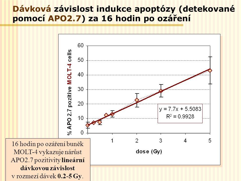 Dávková závislost indukce apoptózy (detekované pomocí APO2