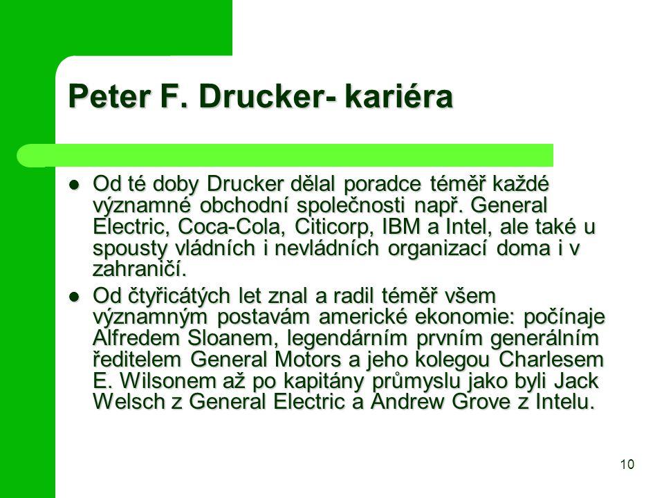 Peter F. Drucker- kariéra