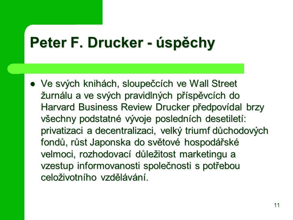 Peter F. Drucker - úspěchy
